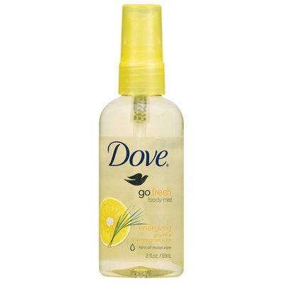 Dove Energizing Body Mist Spray Bottle