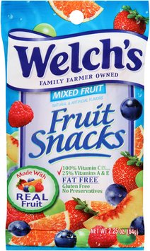 Welch's® Mixed Fruit Fruit Snacks 2.25 oz. Bag