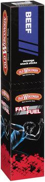 Old Wisconsin® Fast Fuel Beef and Turkey Honey Brown Sugar Sausage Sticks 27 oz. Box