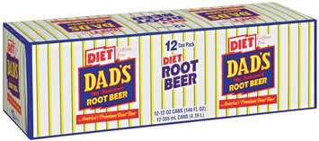 Dad's Old Fashioned® Diet Root Beer 12 ct 12 oz