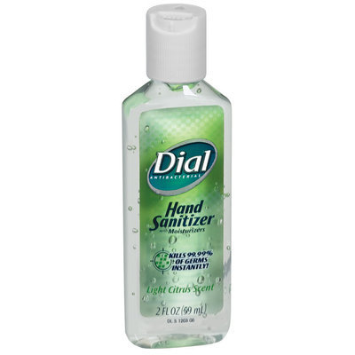Dial Liquid Light Citrus Scent  Hand Sanitizer Antibacterial  2 Fl Oz Plastic Bottle