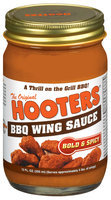 Hooters Bold & Spicy BBQ Wing Sauce 12 Oz Jar