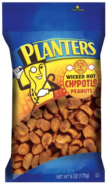 Planters Wicked Hot Chipotle Peanuts 6 oz. Bag