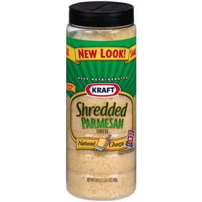 Kraft Grated Cheese Shredded 100% Real Parmesan Cheese  20 Oz Shaker