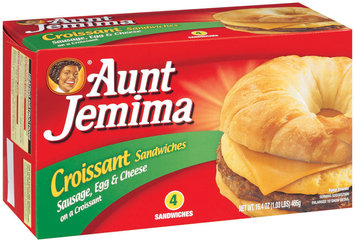 Aunt Jemima Sausage Egg & Cheese  Croissant Sandwiches 4 Ct Box