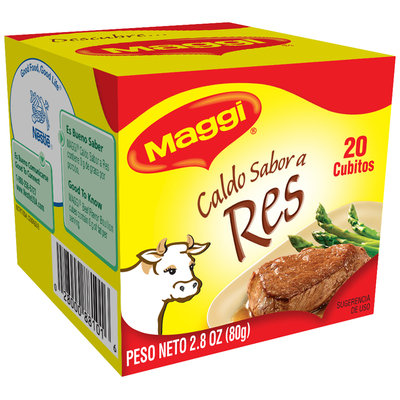 MAGGI Beef Flavor Bouillon Cubes 2.82 oz. Box