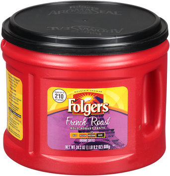 Folgers® French Roast Med-Dark Ground Coffee 24.2 oz. Canister