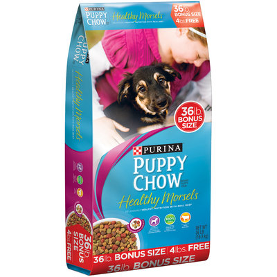 Purina Puppy Chow Healthy Morsels Dog Food Bonus Size 36 lb. Bag