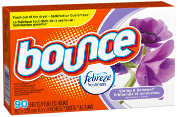 Bounce with Febreze Spring & Renewal Fabric Softener Sheets 90 ct Box