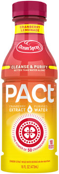 Ocean Spray® PACt™ Cranberry Lemonade Water Beverage 16 fl. oz. Bottle