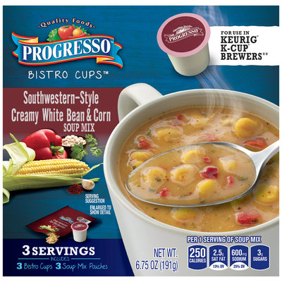 Progresso® Bistro Cups™ Southwestern-Style Creamy White Bean & Corn Soup Mix
