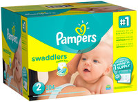 Premium Pampers Swaddlers Diapers Size 2 204 count
