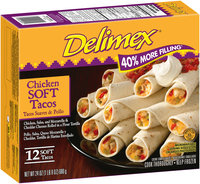 Delimex® Chicken Soft Tacos 12 ct Box