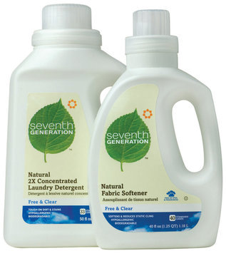 Seventh Generation Free & Clear Detergent & Fabric Softener Group Laundry