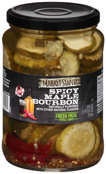 Market Stand® Spicy Maple Bourbon Fresh Pack Pickle Chips 24 fl. oz. Jar
