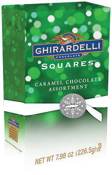 GHIRARDELLI CHOCOLATE Holiday Caramel Trio Medallion Gift Box Chocolate Squares 7.98 OZ