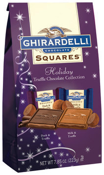 GHIRARDELLI CHOCOLATE Holiday Truffles Collection Chocolate Squares 7.85 OZ BAG