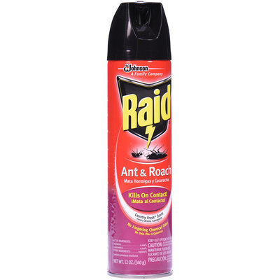 Raid® Ant & Roach Country Fresh Scent Insecticide 12 oz. Aerosol Can