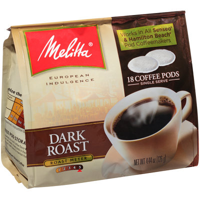 Melitta® Dark Roast Coffee Pods for Senseo & Hamilton Beach Pod Brewers 18 ct Bag