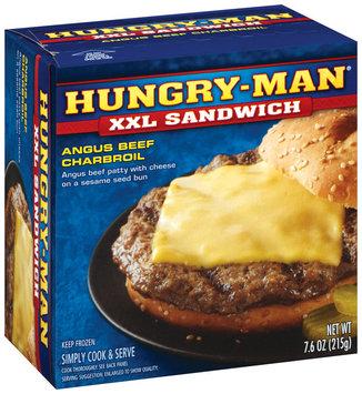 Hungry-Man Angus Beef Charbroil XXL Sandwich 7.6 Oz Box