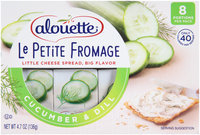 Alouette® Le Petite Fromage Cucumber & Dill Cheese Spread 4.7 oz. Sleeve