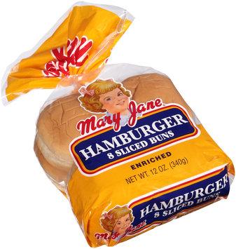 Mary Jane® Hamburger Sliced Buns 8 ct Bag