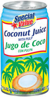 Special Value W/Pulp Coconut Juice 10.5 Oz Can