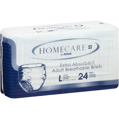 BRHC30 Homecare by Attends® Breathable Briefs Large, 24 count