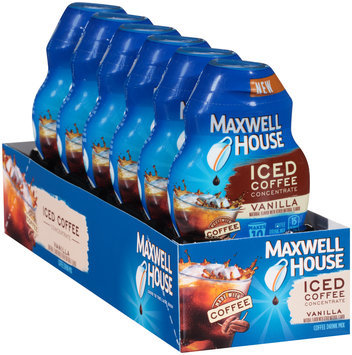 Maxwell House Vanilla Iced Coffee Concentrate 1.62 fl. oz. Bottle