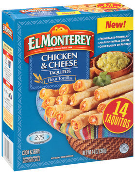 El Monterey® Chicken & Cheese Taquitos 14 ct Box