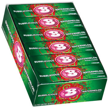 Bubblicious 5 Piece Packs Watermelon Bubble Gum 18 Pk Box