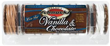 Schnucks Vanilla & Chocolate 6 Ct Ice Cream Sandwiches 4 Oz Carton