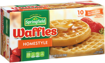 Springfield Homestyle Frozen Waffles 12.3 oz. Box