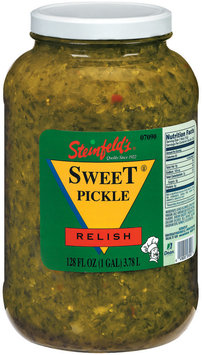 Steinfeld's Sweet Pickle Relish 128 Fl Oz Jar