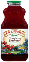 R.W. Knudsen® Organic 100% Cranberry Blueberry Juice 32 fl. oz. Bottle