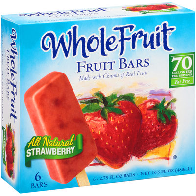 Whole Fruit® All Natural Strawberry Fruit Bars 6 ct Box