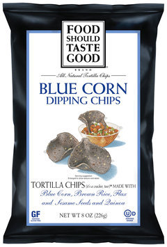 Food Should Taste Good® Blue Corn Dipping Chips 8 oz. Bag