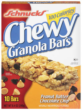 Schnucks Chewy Peanut Butter & Chocolate Chip 8.4 Oz Granola Bars 10 Ct Box
