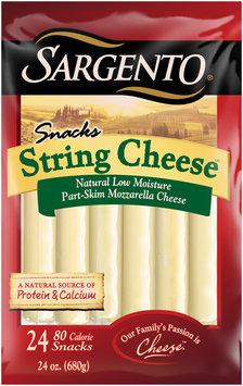Sargento® Snacks Mozzarella String Cheese™ Sticks 24 ct Bag