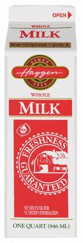 Haggen Whole Vitamin D Milk 1 Qt Carton