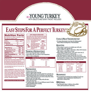 Riverside® Young Turkey with Giblets and Gravy Packet Pack
