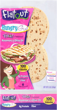 Flatout® Foldit® Hungry Girl Rosemary & Olive Oil Flatbread 9 oz. Packet