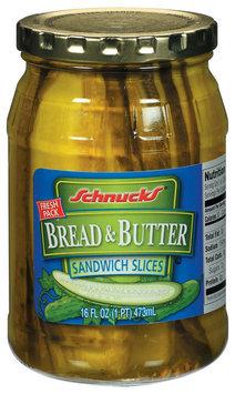 Schnucks Bread & Butter Sandwich Slices Pickles 16 Fl Oz Jar