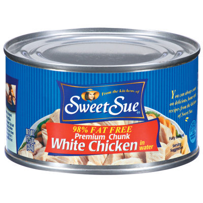 Sweet Sue White Premium Chunk In Water 98% Fat Free Chicken 12.5 Oz Can
