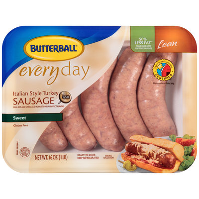 Butterball® Everyday Lean Italian Style Turkey Sausage Sweet Links 5 ct Tray