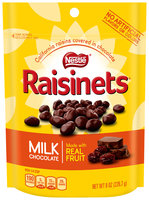 Nestlé RAISINETS Milk Chocolate Real Fruit