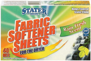 Stater Bros. Rain Fresh Scent For The Dryer Fabric Softener Sheets 40 Ct Box