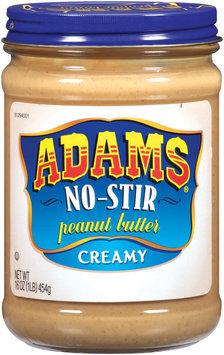 Adams No-Stir Creamy Peanut Butter 16 Oz Jar