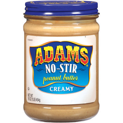 Adams No-Stir Creamy Peanut Butter 16 Oz Jar