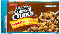 Malt-O-Meal® Chocolately Colossal Crunch® Sweetened Corn & Oat Cereal 28 oz. ZIP-PAK